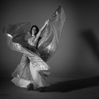 Elisa Jade, Belly Dancing with Isis Wings.